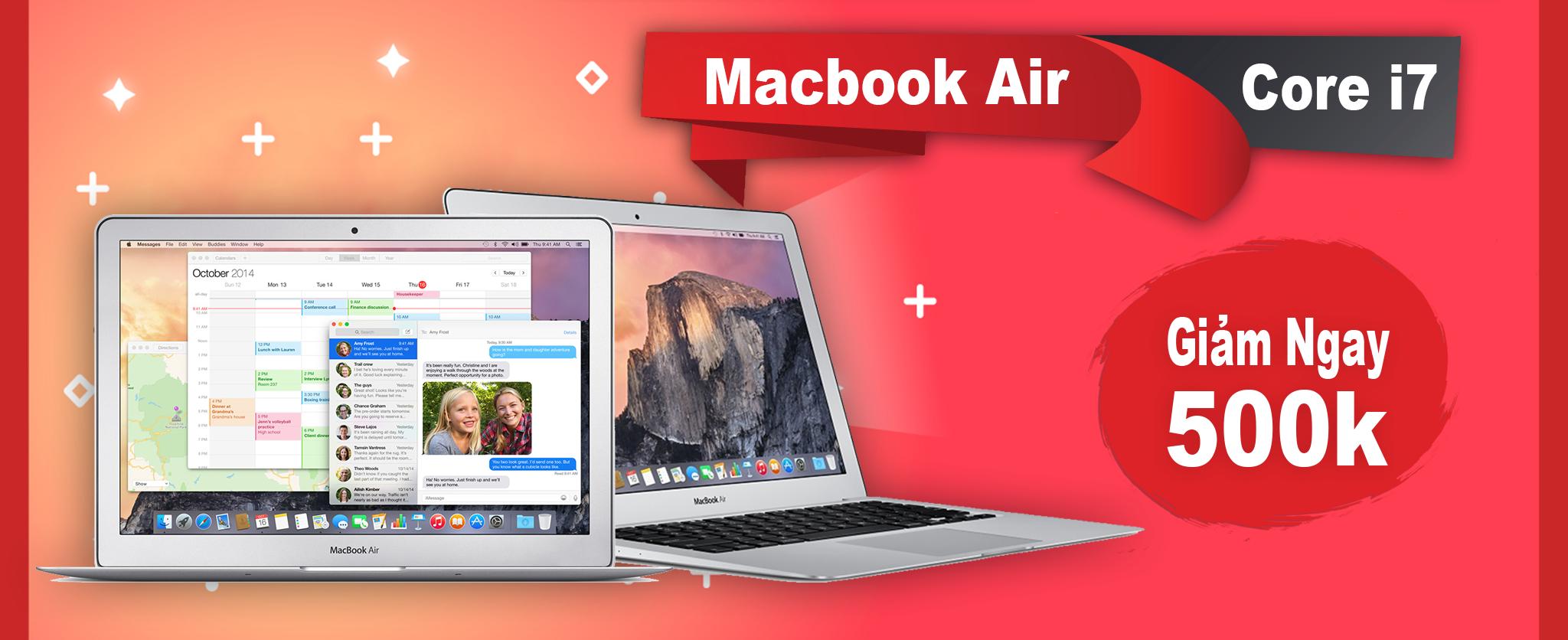 Tậu Macbook Air cũ giá rẻ 13 inch đời 2014-2015