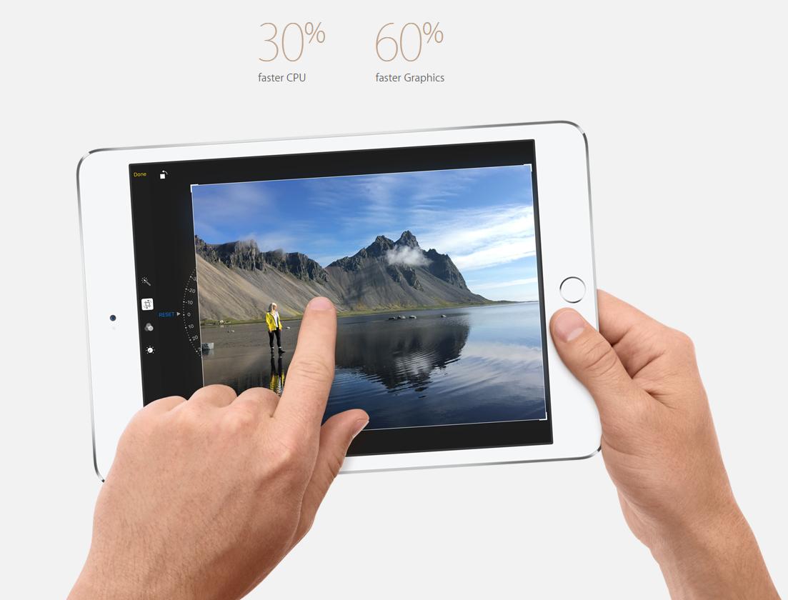 Hiệu suất vượt trội trên iPad Mini 4
