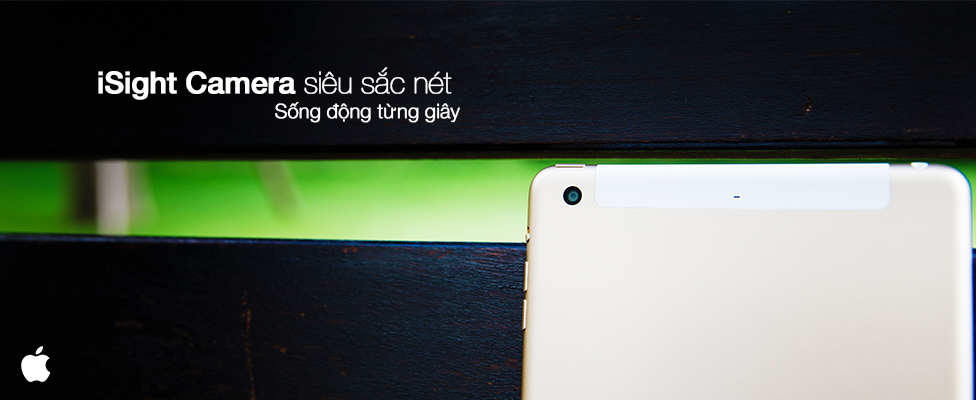 Camera iSight 8MP của iPad Mini 4