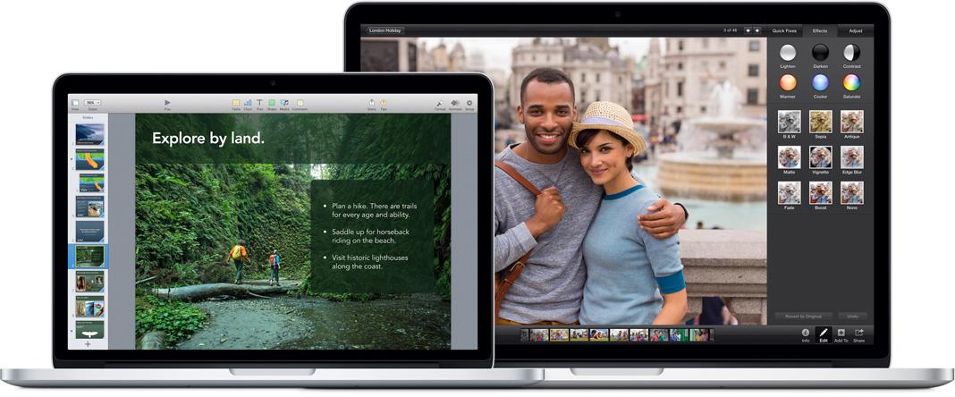 Rất nhiều ứng dụng đã hỗ trợ công nghệ Retina.